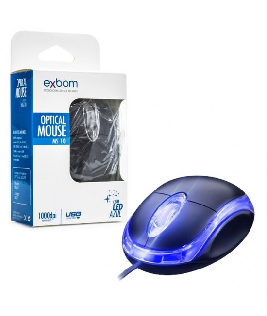 MOUSE COM FIO USB